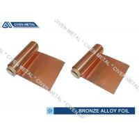 ISO Standard Phosphor Bronze Foil / Alloy Foils with protective Surface coatings for sale