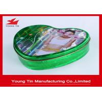 China Slender Capsules Packaging Heart Shaped Gift Box Metal Tinplate Material YT1043 wholesale