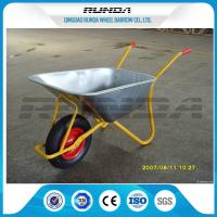 China Metal Bracket Big Wheel Wheelbarrow 200kg Load 32x1.2mm Frame Thickness For Yard wholesale
