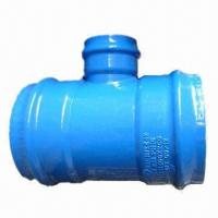 China Equal tee, DN 400 x 200, All socket for PVC wholesale