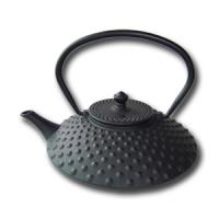 China 400ml cast iron teapot with hobnail pattern design on sale