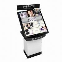 China Cosmetic Display Stand with Screen Printing, Made of Black and Opal Acrylic wholesale