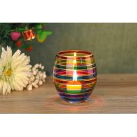 China Wedding Decorative Glass Candle Holder , Colored Glass Votive Candle Holders wholesale