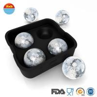 China 4 ice cream ball large wholesale make your own custom silicone ice cube tray chocolate mold wholesale