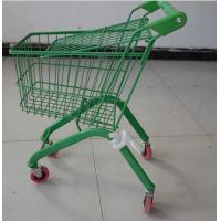 China Colorful European Child Size Metal Shopping Cart Wire Basket Trolley 460×330×630 mm wholesale