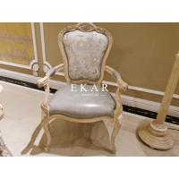 China Antique Ash Wood Hand Carved Leather and Fabric Upholstered Armchair Home Office Chair on sale