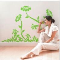 China Contemporary Cool Reusable Flower Tree Wall Stickers LY-013 wholesale
