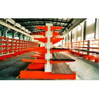 China Cold Rolling Steel Cantilever Storage Racks With Multi - Level , Blue / Orange wholesale