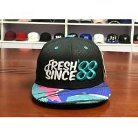 Buy cheap Customize Debossed Snapback Hats And Caps Mens 3D Embroidered With String from wholesalers
