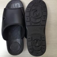 China Cleanroom Antistatic TPU Slipper Black wholesale