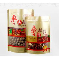 China Semi Transparent Window Brown Stand Up Pouch Food Packaging Pouch wholesale