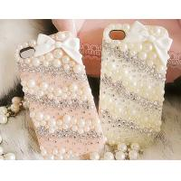 China Newest style bow Love iphone4 / 4s diamond protective case covers of ice cream shell on sale