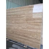 China Iran Yellow Roman Beige Travertine 2cm And 3 Cm Travertine Slabs And Tiles With Mesh On Back wholesale