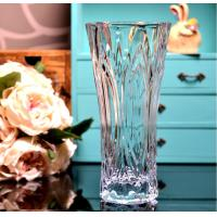 Clear Castle Decorative Glass Vases Stock Handwash Classical Type For Flower