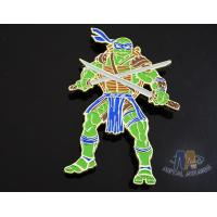 China Custom Logo Ninja Turtle Zinc Alloy Metal Lapel Pin Bages, Cut Out Stye Shiny Gold Plating With Rupper wholesale