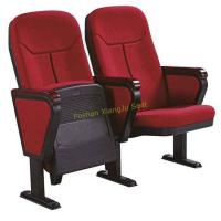 Buy cheap Red Fabric Folding Auditorium Chairs With Writing Board / Cinema Theater Chairs from wholesalers