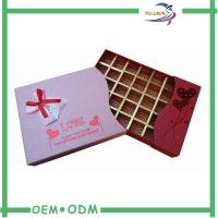 China Printed Large Cardboard Chocolate Gift Boxes / Paper Insert Chocolate Box Packaging wholesale