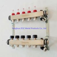 China 5 Port stainless steel water manifolds for underfloor heating system wholesale
