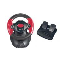 China Professional HIPS / ABS PC Game Racing Wheel with Rubber Handgrip wholesale