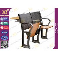 China Gravity Return Folded Seat  Lecture Hall Chair Table With Writing Board For University on sale