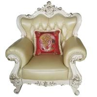 Quality 004# wooden carved Luxury home furniture Royal genuine leather sofa set. 1+2+3 for sale