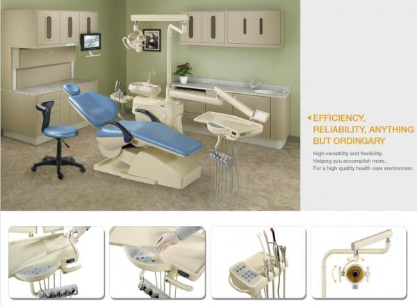 Quality Various Colors Silent Dental Chair Unit With Automatic Purified Water System for sale