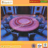 China (BK0109-0016T)Fantastic and Mysterious Royal Purple Imperial Round Dinning Table, Noble Sapphire Blue 12 Chairs, Superb wholesale