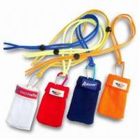China Silk Screen Printed Mobile Phone Pouches, Available in Various Sizes and Colors wholesale