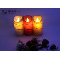 China Colorful Moving Flame Led Candles Paraffin Wax Material 7.5cm Diameter wholesale