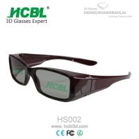China Circular Polarized 3D Theatre Glasses With Nose Pad For Home / 3d Movie Eyeglasses on sale