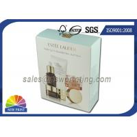 China Foldable Paper Cosmetic Packaging Box with Gold Foil Embossing Logo wholesale