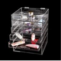 China Makeup Cosmetic Organizer Acrylic Versatile Storage Container 4 Case Drawer wholesale