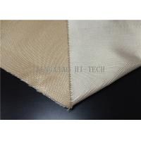 China Plain / Satin Weaving Fireproof Fiberglass Fabric Heat Resistant Corrosion Resistant wholesale