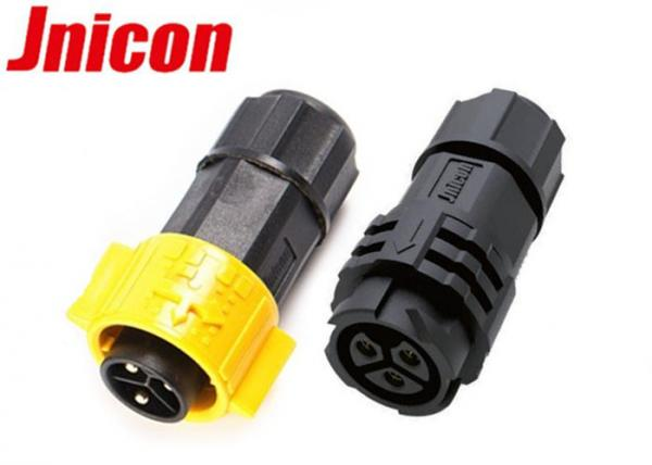 Quality Assembly Type Waterproof Power Plug 3 Pin IP67 Electric Push Locking for sale