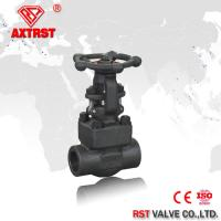 China A105 Forged Steel Gate Valve threaded / butt weld / socket weld end , 150lb - 800lb wholesale
