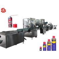 China Stainless Steel Anti Rust Aerosol Filling Equipment And Crimping Machine wholesale