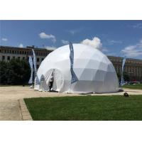 China Outdoor Activities Geodesic Dome Tent 35m Diameter Waterproof / Fireproof wholesale