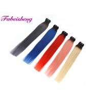 China Straight Colored Hair Extensions , 100% Peruvian Virgin Human Hair Weave wholesale