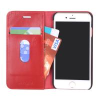 China Factory price high quality PU leather wallet case for iPhone 7 with good stitching finishing wholesale