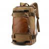 China Estilo negro del vintage de la mochila del viaje de la lona 40l de los adolescentes, bolso impermeable del viaje wholesale