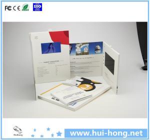 China Custom high quality TFT lcd advertising digital video brochure card on sale