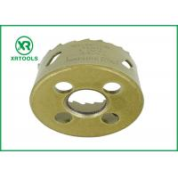 China Gold Round Bi Metal Hole Saw , HSS M42 Carbide Tipped Hole Saw With Built wholesale