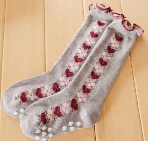 China Cotton Kids Knee High Socks on sale