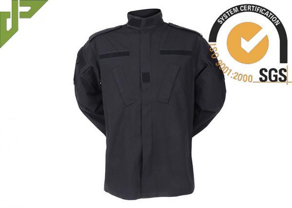 Quality Black Military Combat Uniform Regular Fit , Camouflage Army Uniform Anti Static for sale