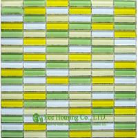 China Strip Glass Crystal Mosaic Tile for Bathroom and Kitchen,China Glass mosaic tile For Sale on sale