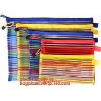 China Wholesale Office School Supply A4/5/6 Mesh Zipper Document Bag Multicolor PVC A4 Archives Contract,Office School Supplie wholesale