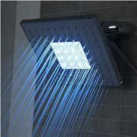 China 8-inch Shower Head with LED Light, Made of ABS, Customized Requirements are Accepted wholesale