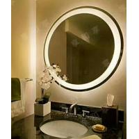 China Iron back framed electric backlit bathroom mirror led light up mirror 80x80x3.5cm on sale