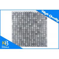 China Natural Stone Polished Marble Mosaic Floor Tile / Italy Grey Square Mosaic Building Materials wholesale
