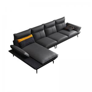 China Fabric Leather 3 Seater Modern Living Room Sofa With Cushion wholesale
